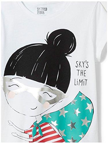 Spotted Zebra Girls' Big 4-Pack Short-Sleeve T-Shirts, Super Girl, Medium (8) by Spotted Zebra (Image #3)'