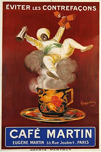 Leonetto Cafe Cappiello - American Gift Services - Cafe Martin Artist Leonetto Cappiello Vintage Advertisement Fine Art Poster Print - 24x36