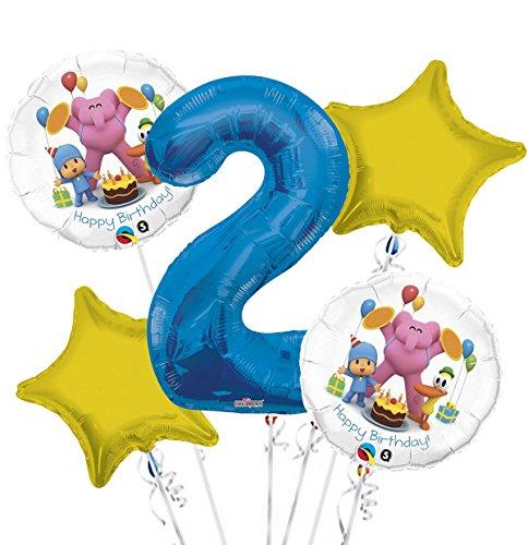 Pocoyo Balloon Bouquet 2nd Birthday 5 pcs - Party -