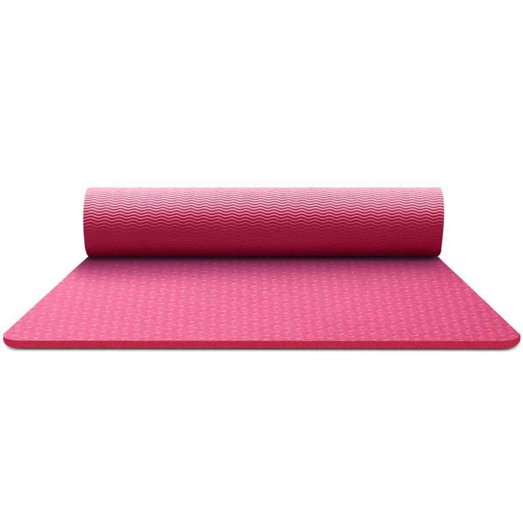 Rose rouge BFQY FH Tapis De Yoga, Hommes Et Femmes élargi Anti-dérapant épaississement Fitness Fitness Home Tapis De Yoga, Sélection MultiCouleure 8mm   6mm 183 × 80 × 0.8cm