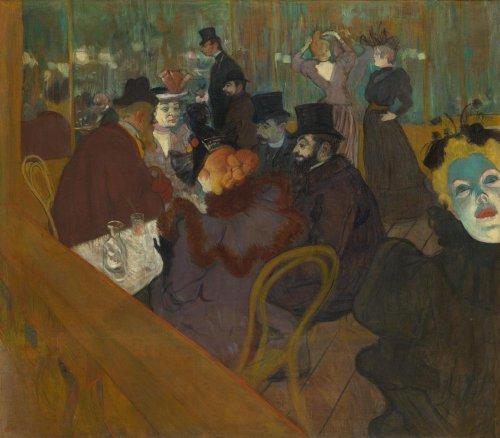 Classic Art Poster - at The Moulin Rouge by Henri de Toulouse-Lautrec 24 X 21