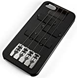 iPhone Case Fits iPhone 8 Guitar Bass Instrument Black Electrically Music Clear Plastic