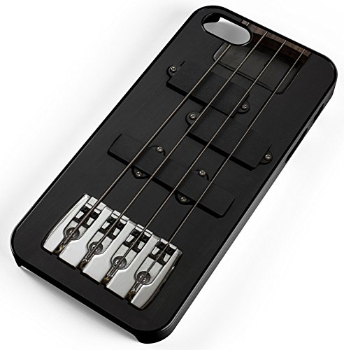 Iphone Case Fits Iphone Se 5S 5 Guitar Bass Instrument Black Electrically Music Black Rubber