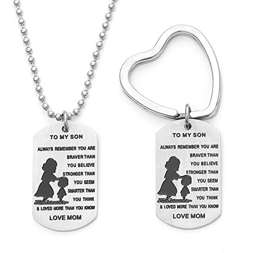 Dog Tag Necklace And Key Ring Remember You Are Braver Than You