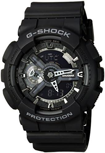Casio G-Shock X-Large Display Stealth Black Watch GA110-1B – Water and Shock Resistant