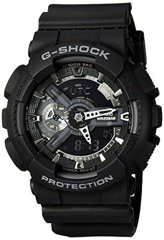 Casio G-Shock X-Large Display Stealth Black Watch (GA110-1B) - Water and Shock Resistant (G Shocks X Large)