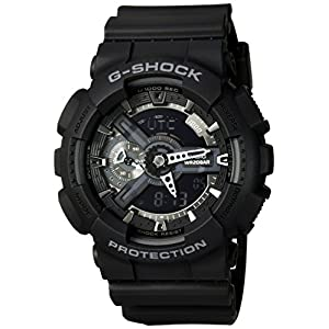 Casio G-Shock X-Large Display Stealth Black Watch (GA110-1B) – Water and Shock Resistant