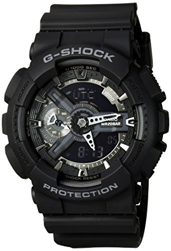 Price comparison product image Casio G-Shock X-Large Display Stealth Black Watch (GA110-1B) - Water and Shock Resistant