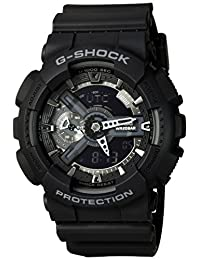 Casio G-Shock Mens Shock Resistant Analog Sports Watch - Black - GA-110-1B