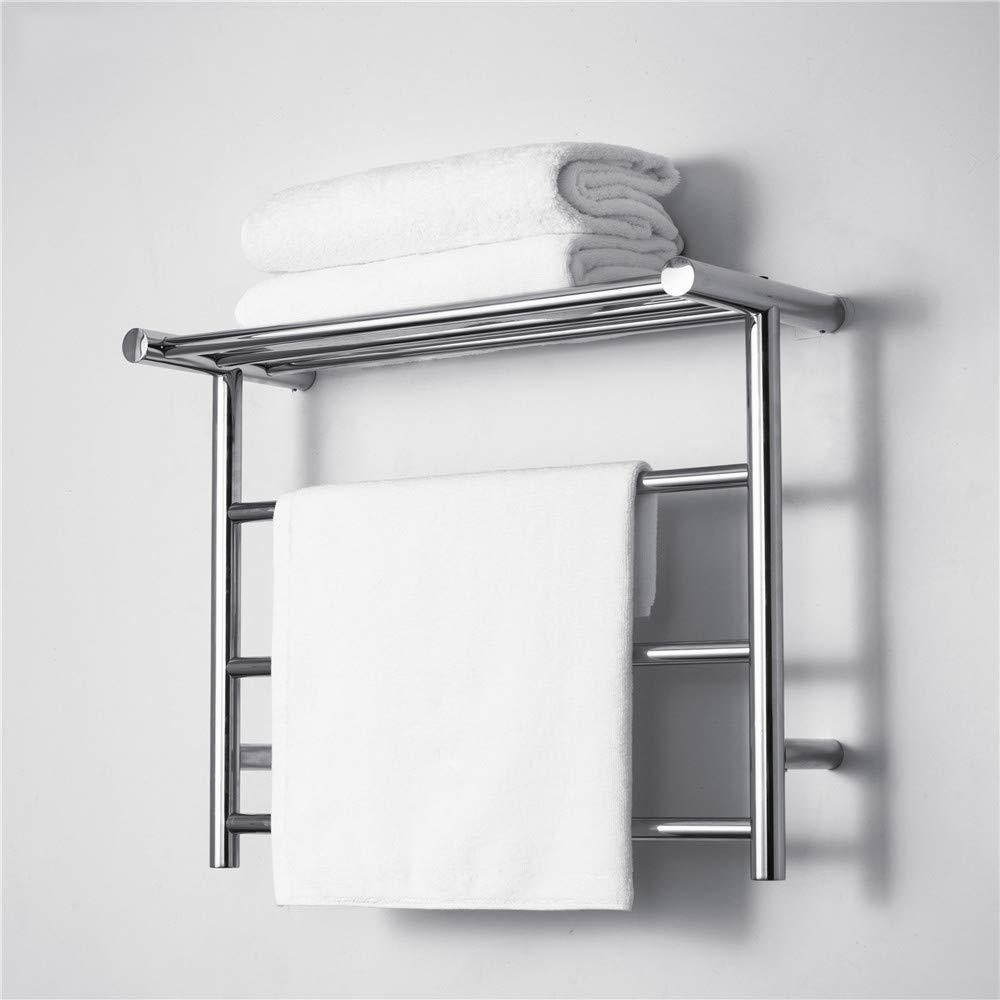 Wall Mounted Stainless Steel Towel Heater XSGDMN Towel Warmer with Top Shelf Hard Wire Hot Towel Rack Brushed Nickel Heated Towel Rack for Bathroom