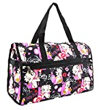 Betty Boop Large Duffel Bag, Durable Microfiber (Multi)