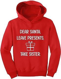Tstars - Dear Santa Leave Presents Take Sister Toddler Hoodie