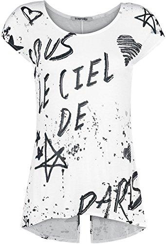 Trueprodigy Ciel de Paris Camiseta Mujer Blanco Blanco