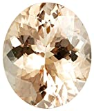 12x10mm Oval Cut Peach Morganite Loose Gemstone