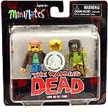 Walking Dead Minimates Series 3 Exclusive Mini FIgure 2-Pack Carol & Pole Zombie