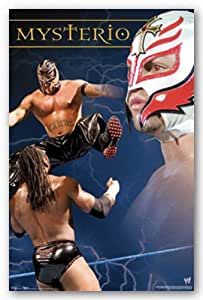 "Rey Mysterio - WWE Wrestling by Anonymous 24""x36"" Art Print Poster"