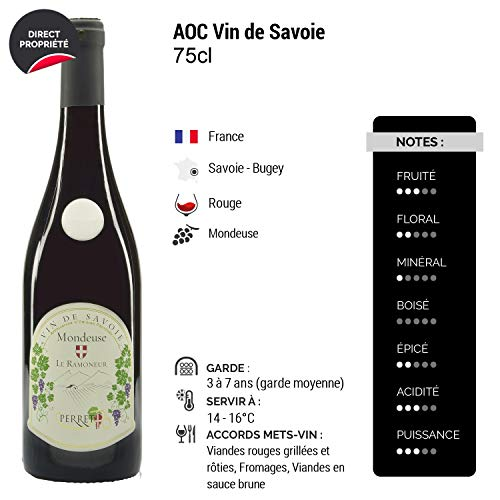 Vin-de-Savoie-MondeuseLe-Ramoneur-Rouge-Maison-Perret-Vin-AOC-Rouge-de-Savoie-Bugey-Cepage-Mondeuse-Lot-de-6x75cl