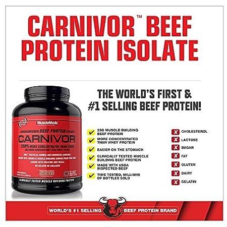 9afa75e37 Amazon.com  MuscleMeds Carnivor Beef Protein Isolate Powder ...