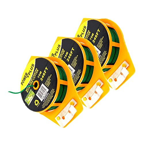 Plant Twist Tie 246 Ft W/cutter, Sturdy Green Coated Wire (Pack of 3) (Twist Plant)
