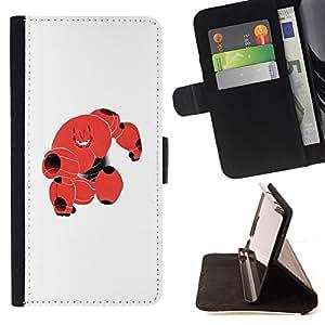 Stuss Case / Funda Carcasa PU de Cuero - Lindo Blood Red Robot Monster celular - LG G4