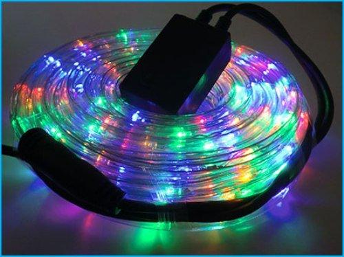 Illuminazione Esterna Natale : Tubo luminoso di natale per esterno multicolore giochi di colore