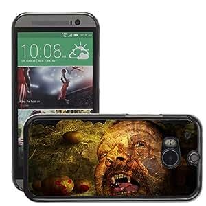 Etui Housse Coque de Protection Cover Rigide pour // M00150205 Los murciélagos de Halloween Hombre // HTC One M8
