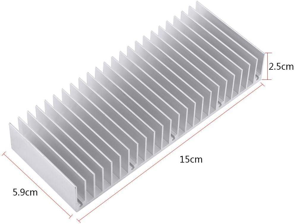 PC Aluminum Heatsink Cooling Radiator Heat Sink Dense Computer Cooling Accessories 24 Teeth 150mm Aluminum Heatsink