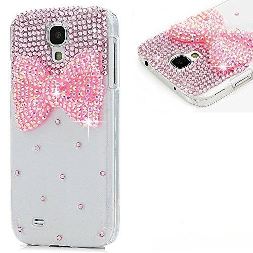 EVTECH(TM) Coque 3D Bling Strass Case Transparent Back Cover Cristal Etui Housse Hard Coque pour Samsung Galaxy Mega 6.3 i9200 i9205