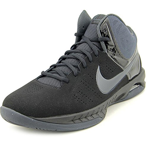 Nike Mens Air Visi Pro VI Nubuck Basketball Shoe Black/Anthracite 13 (Mens Nike Jordan Shoes)