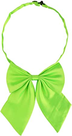 uxcell Adjustable Solid Color Pre-tied Bowknot Halter Neck Bow Tie for Women Men Costume Accessory
