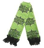 Spider Web Lime Green Cotton Leg Warmer Socks Accessory for Halloween 2-6y