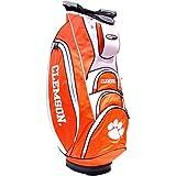 Team Golf NCAA Clemson Tigers Victory Golf Cart Bag, 10-way Top with Integrated Dual Handle & External Putter Well, Cooler Pocket, Padded Strap, Umbrella Holder & Removable Rain Hood