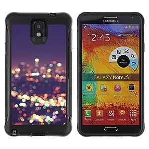 LASTONE PHONE CASE / Suave Silicona Caso Carcasa de Caucho Funda para Samsung Note 3 / skyline city lights blur night bright