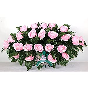 Crazyboutdeco XL Pink Rose Tombstone Headstone Saddle 29