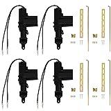 Etopars 4 X Black Car Plastic Universal Heavy Duty Power Door Lock Actuator 2 Wire 12V