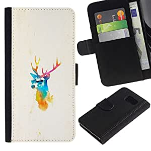 NEECELL GIFT forCITY // Billetera de cuero Caso Cubierta de protección Carcasa / Leather Wallet Case for Sony Xperia Z3 Compact // Elk ciervos Pimp