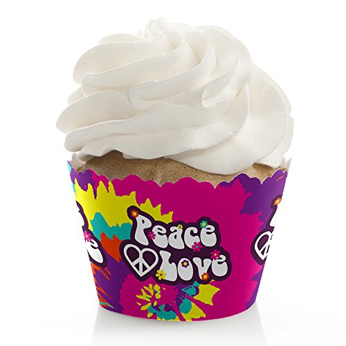 60's Hippie - 1960s Groovy Party Decorations - Party Cupcake Wrappers - Set of 12]()