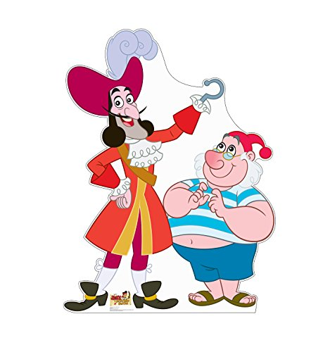 (Advanced Graphics Captain Hook and Mr. Smee Life Size Cardboard Cutout Standup - Disney Junior's Jake and the Never Land)