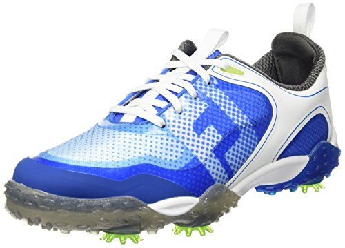FootJoy Men's Freestyle Closeout Golf Shoes 57340 White/Electric Blue
