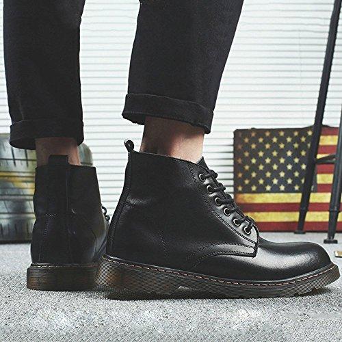 Autunno Stivali Stivali Moda Stivali Stivali Bassi Martin da Uomo Stivali da Lavoro Coreano Inverno da Black Chelsea 6w8FWqC