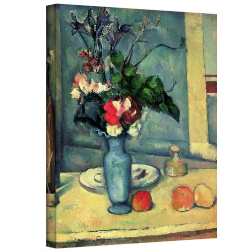 Art Wall The Blue Vase' Gallery-Wrapped Canvas Artwork by Paul Cezanne, 24 by 18-Inch Cezanne Canvas Vase