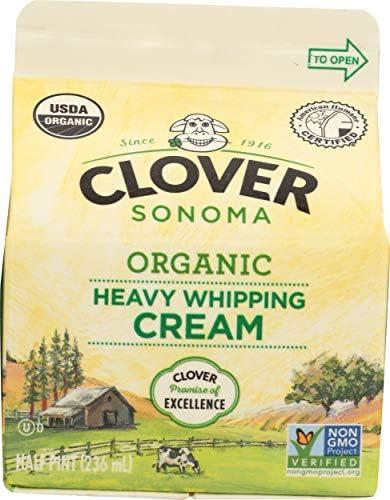 Clover Sonoma, Cream Whipping Heavy Organic, 8 Fl Oz
