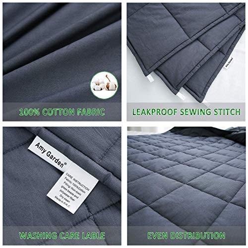 Amy Garden 3.0 | Smaller Pockets Heavy Blanket Cotton Blankets Adults Women, Men