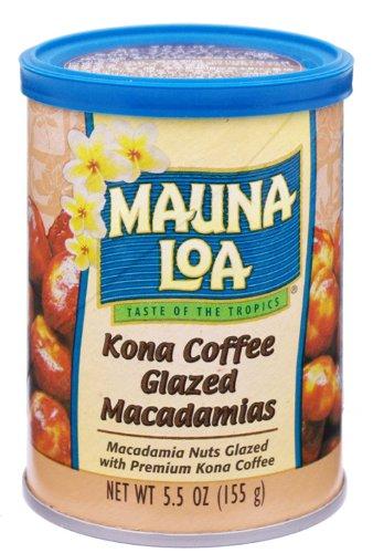 Mauna Loa Macadamias, Kona Coffee Glazed, 5.5-Ounce Canisters (Party of 6)