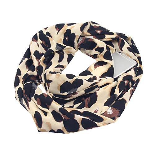 Toaimy Scraf Ladies Print Winter Infinity Scarf Pocket for sale  Delivered anywhere in USA