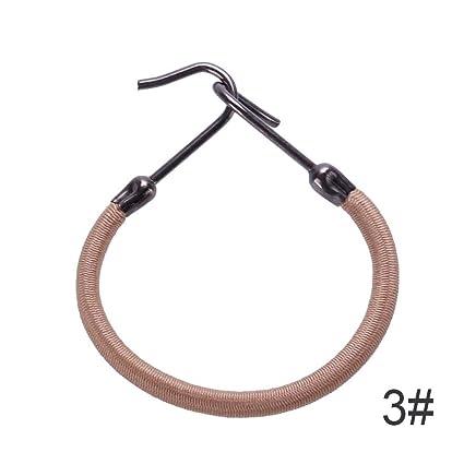 RUNGAO - 5 bandas elásticas para el pelo, para mujer, niña, gancho,