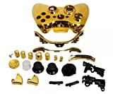YHG Replacement Parts for Chrome Xbox 360 Controller Shell [Gold]