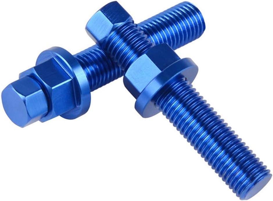 Color : Blue Yuanmei Rear Axle Blocks Chain Adjuster Bolt Fit For KTM 85 125 150 250 350 450 530 690 990 1190 1290 SX SXF EXCF SMC Enduro Duke Adventure