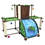 Kitty City Rainforest Tropical Getaway Cat Furniture, Cat Toy & Cat Bed