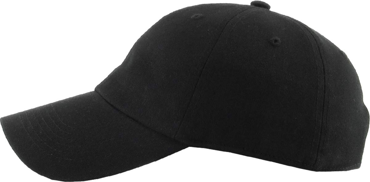 Classic Polo Style Baseball Cap All Cotton Made Adjustable Fits Men Women Low Profile Black Hat